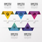 Timeline Infographics. Modern design template. Vector illustration.  royalty free illustration