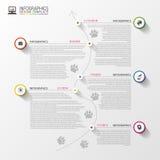 Timeline infographics. Modern design template. Vector. Illustration Stock Illustration