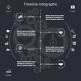 Timeline Infographics Symbols Elements and Icons Stock Photo