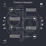 Timeline Infographics Symbols Elements and Icons Stock Photo