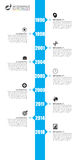 Timeline infographics template. Blue modern design. Vector Stock Photo