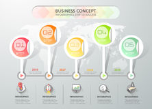 Timeline infographics template, Can be used for workflow layout, diagram Stock Photography