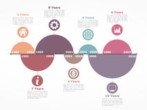 Timeline Infographics Template with Circles Royalty Free Stock Photos