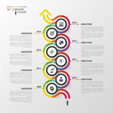 Timeline infographics template. Colorful modern design. Vector illustration Royalty Free Stock Photos