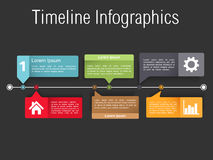Timeline Infographics Template Royalty Free Stock Image
