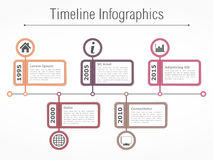 Timeline Infographics Template Stock Photos