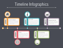 Timeline Infographics Template Royalty Free Stock Images