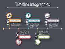 Timeline Infographics Template Stock Photography
