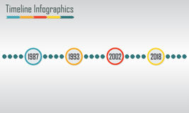 Timeline Infographics template. Royalty Free Stock Photo