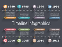 Timeline Infographics Template Stock Photo