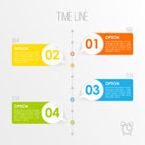 Timeline infographics template,. Illustration, business presentation concept Stock Image
