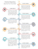 Timeline Infographics Template Royalty Free Stock Photos