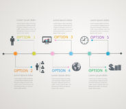 Timeline, infographics template with stepwise stru Royalty Free Stock Photos