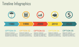 Timeline Infographics template. Vector. Stock Image