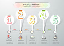 Timeline infographics template. Vector illustration. Royalty Free Stock Photo