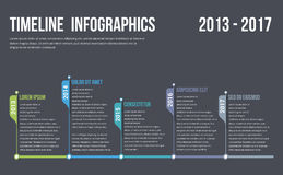 Timeline Infographics. Template, workflow or process diagram vector illustration