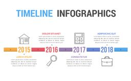 Timeline Infographics. Template, workflow, process, history diagram Stock Photography