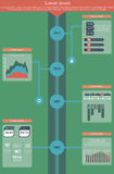 Timeline Infographics Royalty Free Stock Images
