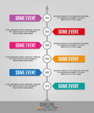 Timeline Infographics vertical Royalty Free Stock Photo