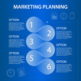 Timeline marketing planning ifographic Stock Photo