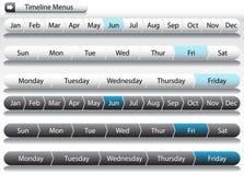 Timeline Menu Arrows Stock Images