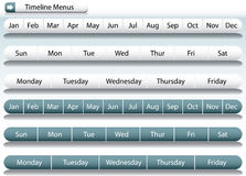 Timeline Menu Bars Royalty Free Stock Photo