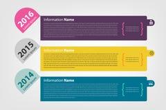 Timeline & milestone company history infographic Stock Image