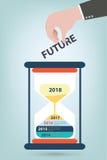 Timeline & milestone company history infographic Stock Photo