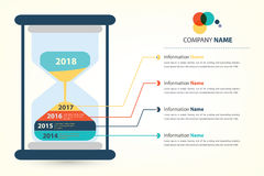 Timeline & milestone company history infographic Stock Images
