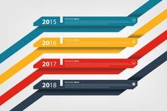 Timeline & milestone company history infographic Royalty Free Stock Photography