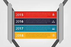 Timeline & milestone company report infographic Stock Images