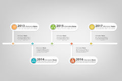 Timeline progress with business icon Royalty Free Stock Photo