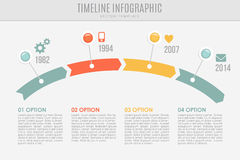 Timeline report template with buttons and icons,  Stock Photo