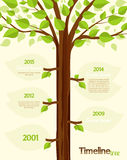 Timeline. Shaped tree with space for your text vector illustration