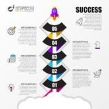 Timeline with 5 steps. Infographic design template. Vector. Timeline with 5 steps. Infographic design template. Business concept. Vector illustration stock illustration