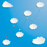 Timeline Successful Chart Clouds Stock Images