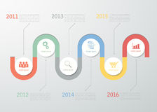Timeline template for business design, reports, step presentation Royalty Free Stock Photography