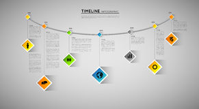 Timeline template Stock Photography
