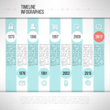 Timeline template infographic made in modern flat. Design suitable for business presentations, reports, statistic layout. Vector Royalty Free Stock Image