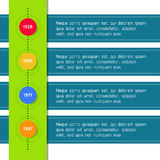 Timeline template infographic suitable for. Business presentations, reports, statistic layout. Vector Stock Image