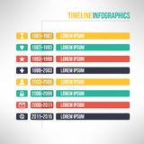 Timeline template infographic suitable for. Business presentations, reports, statistic layout. Vector Royalty Free Stock Photography