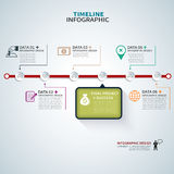 Timeline template infographic Stock Photo