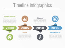 Timeline Template Royalty Free Stock Image