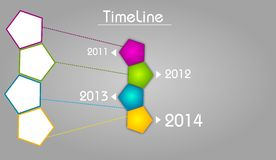 Timeline template for last four years Royalty Free Stock Image