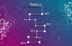 Timeline template from 2009 to 2014 stock illustration.