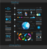 Timeline to display your data with Infographic element Royalty Free Stock Photos