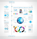 Timeline to display your data with Infographic element Royalty Free Stock Image