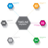Timeline to display your data with Infographic elements Royalty Free Stock Images
