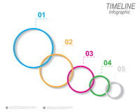 Timeline to display your data with Infographic elements Royalty Free Stock Photo