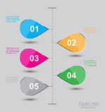 Timeline to display your data with Infographic elements Royalty Free Stock Image